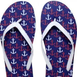 NWT Anchors Away Flip-Flops